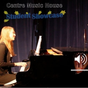 Accompanying voice student Molly at a recent student showcase with Centre Music House.