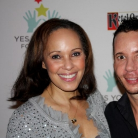 Dan and News Anchor Brenda Wood at the YES YOU CAN! Foundation Holiday Gala.