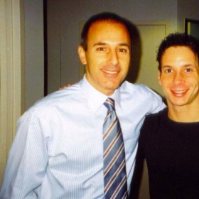 Dan and Matt Lauer on the Today Show