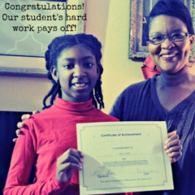 One of my lovely students got her certificate today!