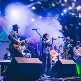 Grant performing with Captain Green at Wakarusa Music Festival 6.5.1