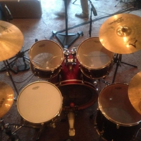 My tried and trusted drum kit.