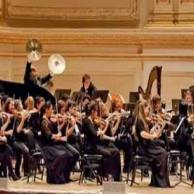 Epic cymbal crash during Tchaikovsky symphony #4 at Carnegie hall.
