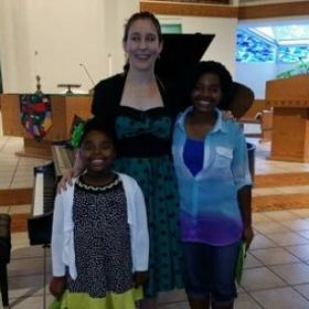 A couple of my sibling students from the recital!