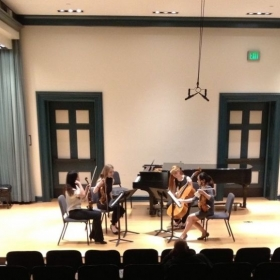 Ms. Nancy and her string quartet