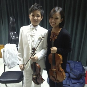 Performed with the talented young musician in Taiwan 2013