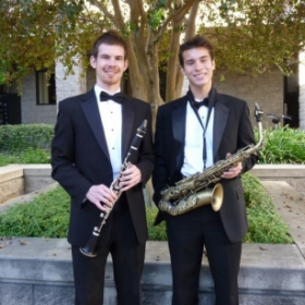 Myself and Saxophonist Sammy Hults after a concert with the APU Wind Ensemble.