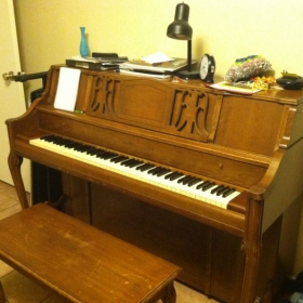 My trusty upright piano in my home studio :-)