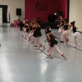 Lovely little dancers doing center work