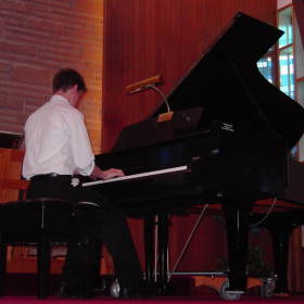 Performing at one of my mother's student recitals