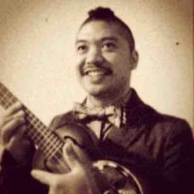 Me in the early days with my resonator tenor ukulele