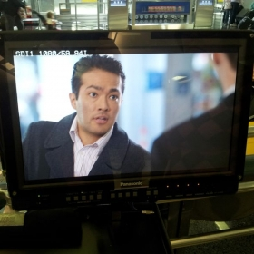 United Airlines Industrial Film shoot at O'Hare. November 2014.
