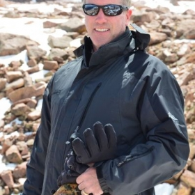 Freezing in June on the summit of Pike's Peak in Colorado.  I can't play guitar in this weather.