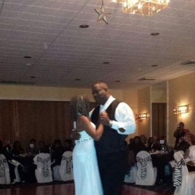 Dancing with my wife of 35 years.