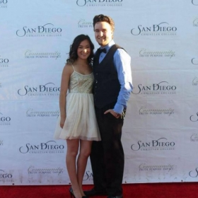 San Diego CC Awards Night Red Carpet with my best friend and fiancé, Sydney