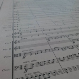 A high-intensity orchestral score for an animation
