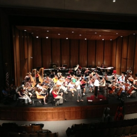 Rehearsing for solo concerto performance with the Sewannee Festival Orchestra (July 2013)
