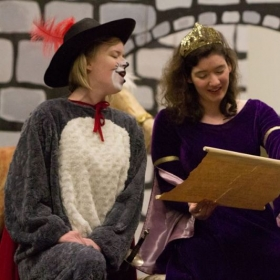 "As ""Princess"" in University of Oregon Opera Ensemble's production of ""Puss in Boots"", an elementary school outreach performance."