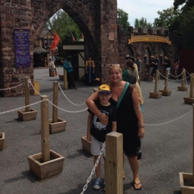With my 10 year old son, Lucas at the PA Ren. Fair.
