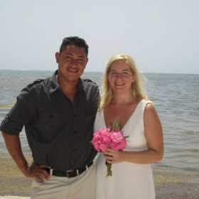 With my husband - July 31st, 2015 in Belize.