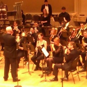Chicago Symphonic Winds performing at Chicago Symphony Center, Michael Hoover on Principal Flute (May, 2015)