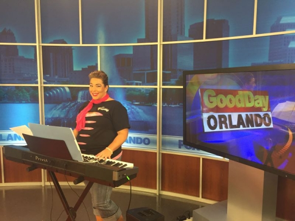 Playing LIVE in the Fox35 Studios with Violectric 10/1102015.
