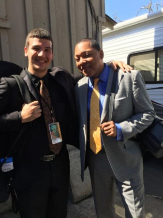A photo with maestro Wynton Marsalis following a shared performance in Monterrey.