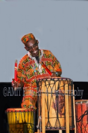 "Nana Obrafo in performance at the place he works , and teaches for the last 16 yrs. The ""World Beat Center"". 2100 Park Blvd. San Diego Ca."