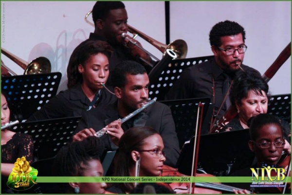 Performing with the National Philharmonic Orchestra of Trinidad and Tobago for the Independence day concert (2014).