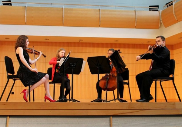 Performing String Quartet No. 3 by Dmitri Shostakovich with the President's String Quartet, Spring 2015