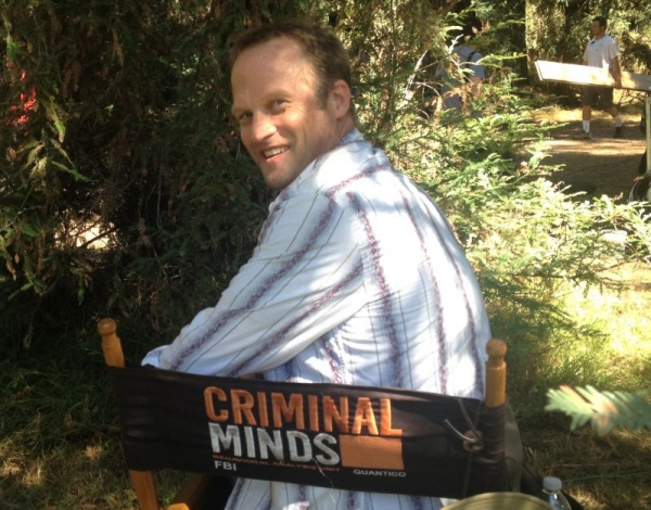 On set, Criminal Minds