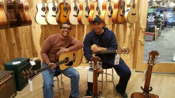 Me and Bernie Williams jamming.