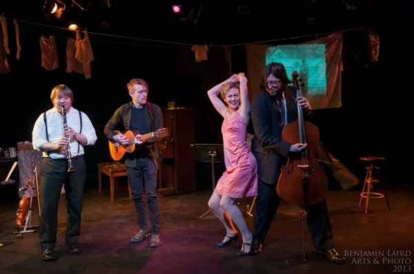 Playing a musical theater show in Calgary, Canada.