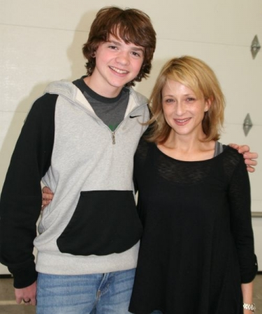 "With coaching client Joel Courtney (""Super 8"")"