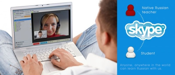 online lesson with skype. 99% same than classroom
