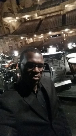 "On stage at the Marrian Theatre where I sung with The Heritage Choir of Philadelphia for Christian McBride's ""The Movement Revisited""."