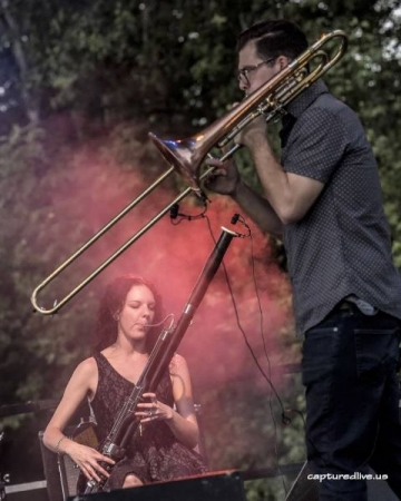 Performing with Dry River Yacht Club at Tilted Earth Music Festival. Photo by Tony Ziemba