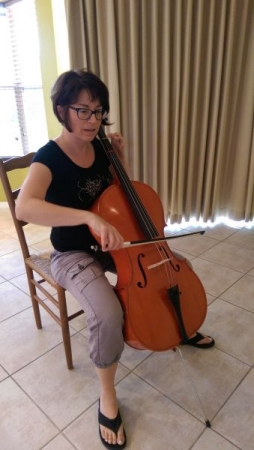 Adult cello student