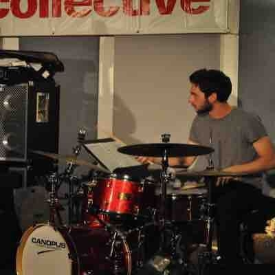 Performing at Drummers Collective