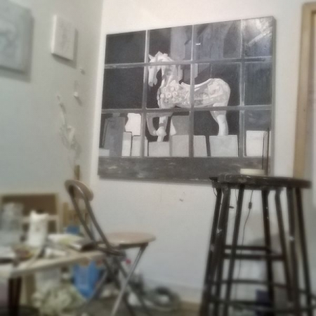 Dream and Carousel(new work in progress)- oil on canvas