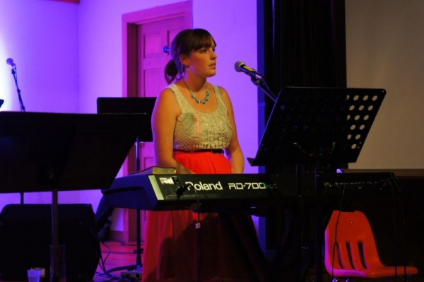Performing my original music in summer 2013.