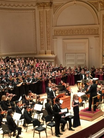 Carnegie Hall debut, singing the baritone solo in Schubert's Mass in G.