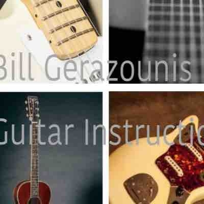 Bill Gerazounis music instruction logo.