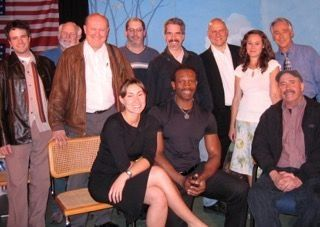 "World Premiere cast of ""Fingers"" (later ""Shoot O'Malley Twice"") by Jon Brooks. All are Actors Equity and/or SAG/AFTRA."