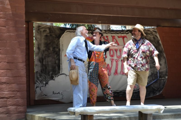 """With Sir Toby Belch and the clown, Feste, in """"Twelfth Night"""", plotting a prank on Malvolio."""