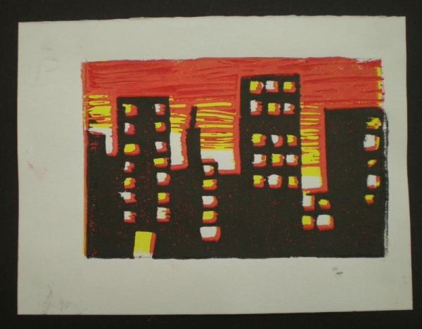Reduction Block Print - high school