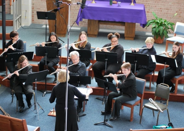Flutes on the Brink - Flute Choir Festival, Baltimore, MD, April 5, 2014.