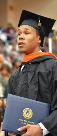 Receiving my Bachelors Degree
