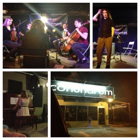 Performance of selected works at Conundrum Music Hall in Columbia, SC