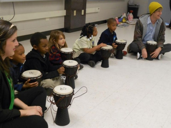 1st-3rd Grade World Music Class at KIPP Central City in New Orleans.